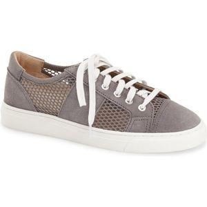 Vince Camuto Breya Grey Leather Mesh Sneakers 9